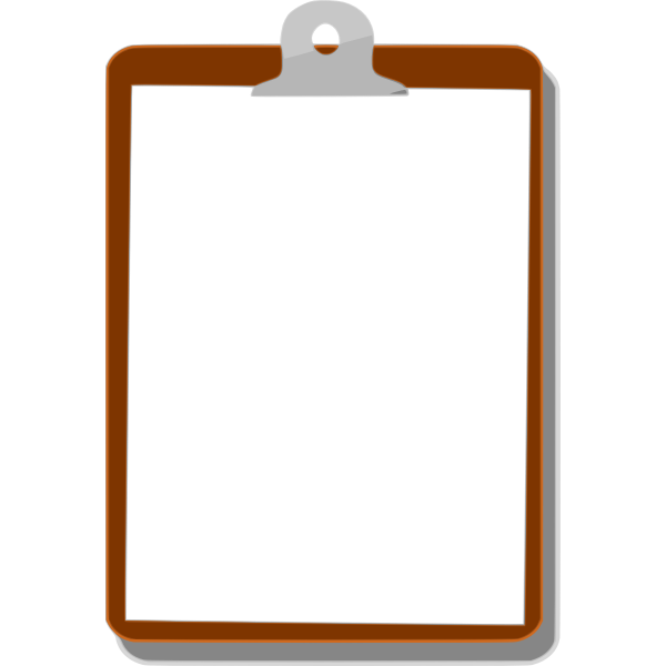 Clipboard with blacnk paper vector image