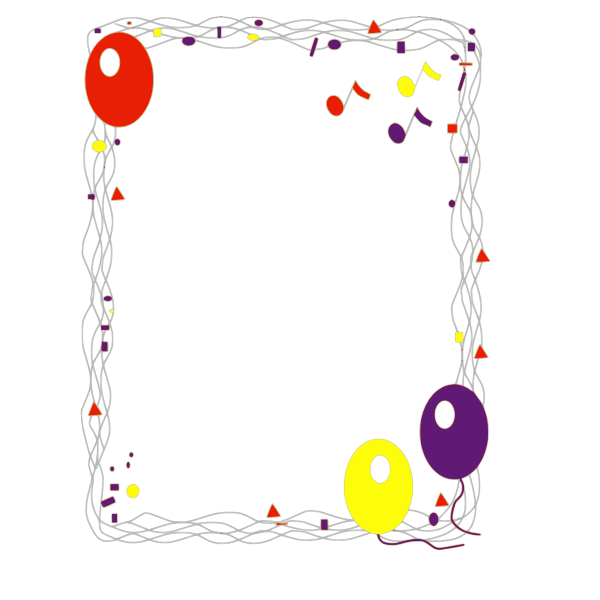 Balloon border vector graphics