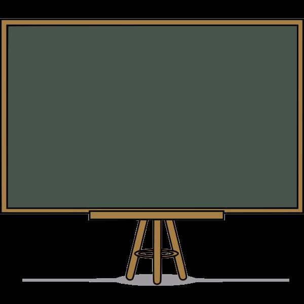 Vector clip art of blackboard