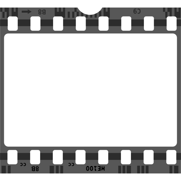 Vector image of blank film strip