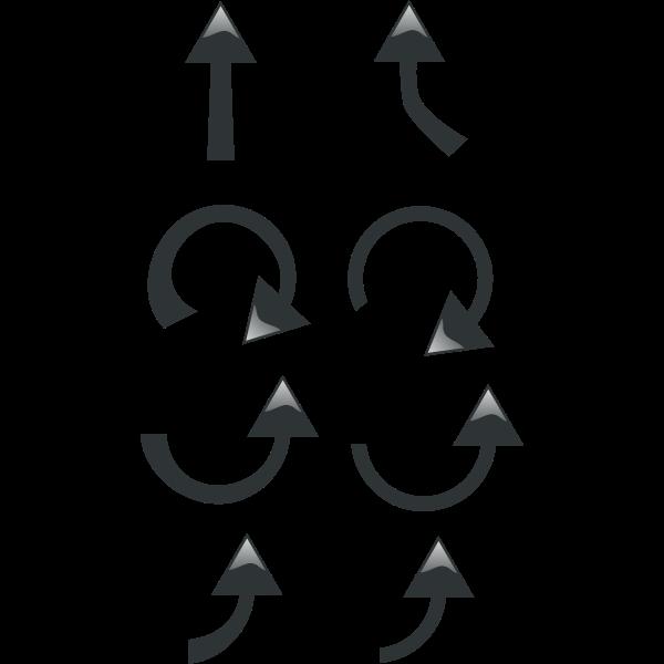 Vector clip art of black arrows selection