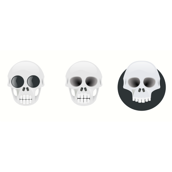 Three skulls illustration