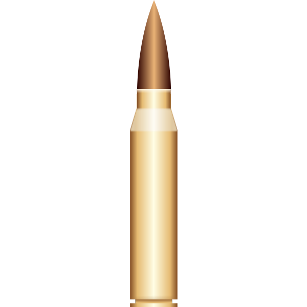 Vector drawing of gold bullet