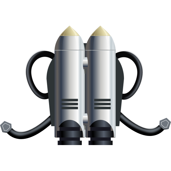 Individual space flight jet pack vector image