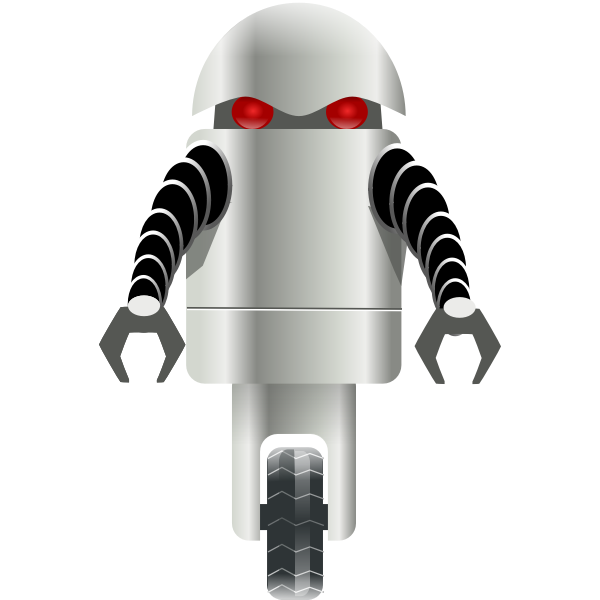 Robot on wheel vector graphics