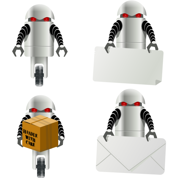 Robot delivery vector image