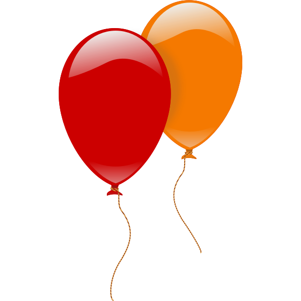 Vector illustration of two floating balloons