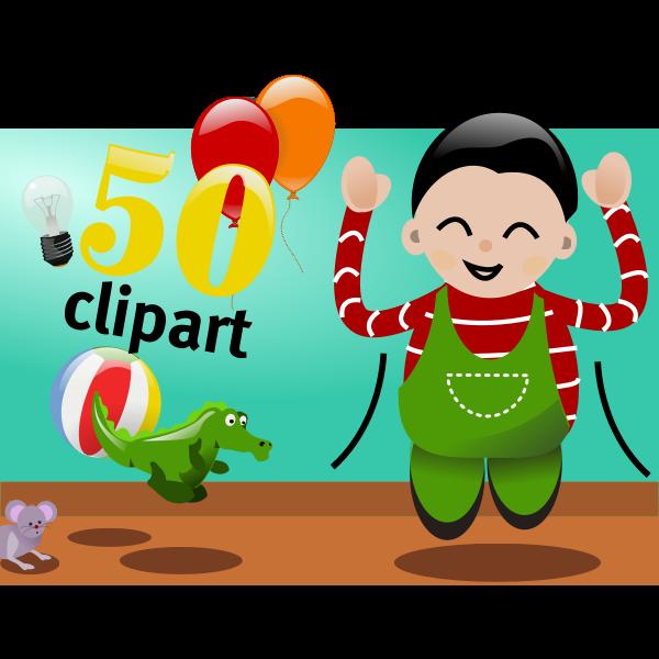 Celebrate 50 clipart vector image