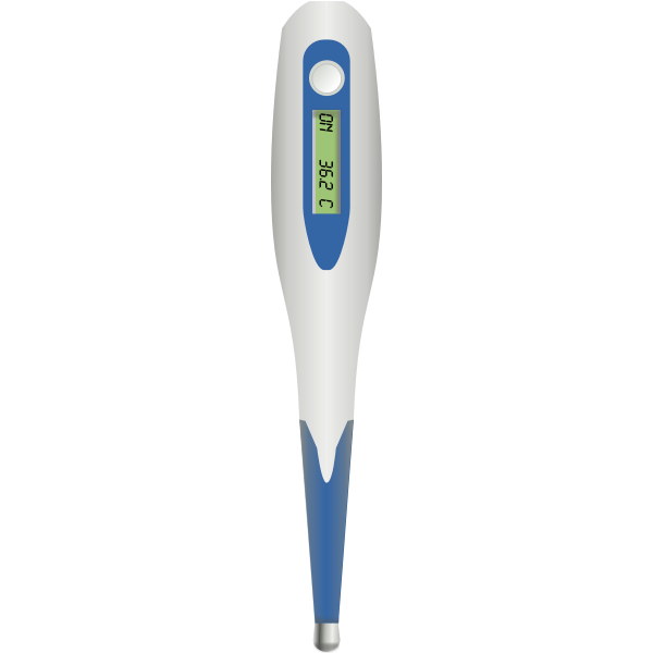 Vector drawing of medical thermometer