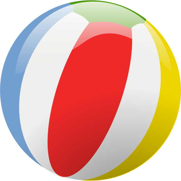Vector illustration of beach ball