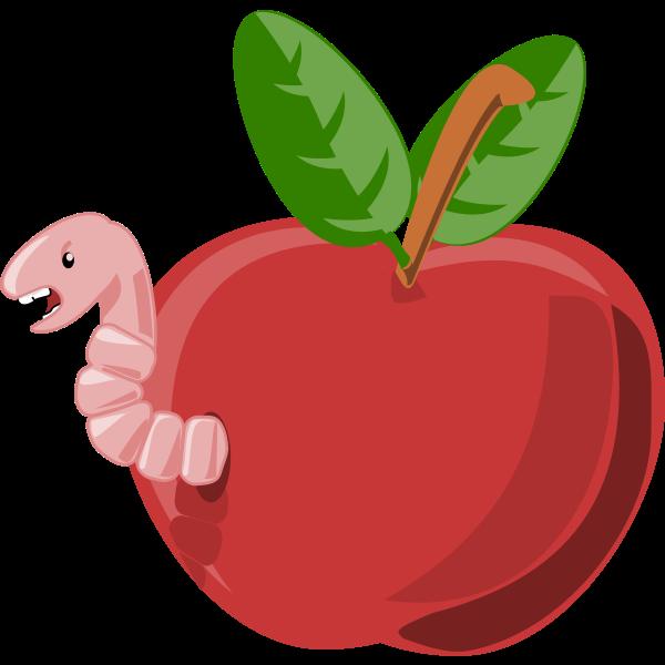 Red cartoon apple vector image