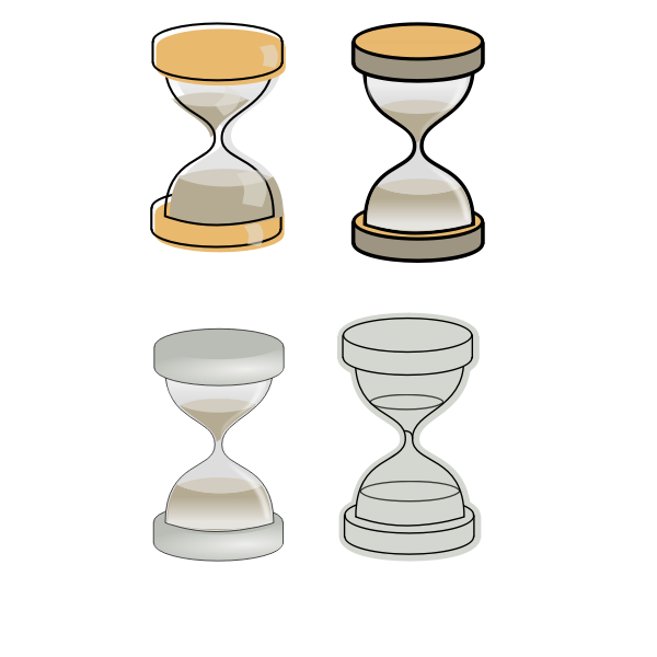 Sand glasses selection vector image