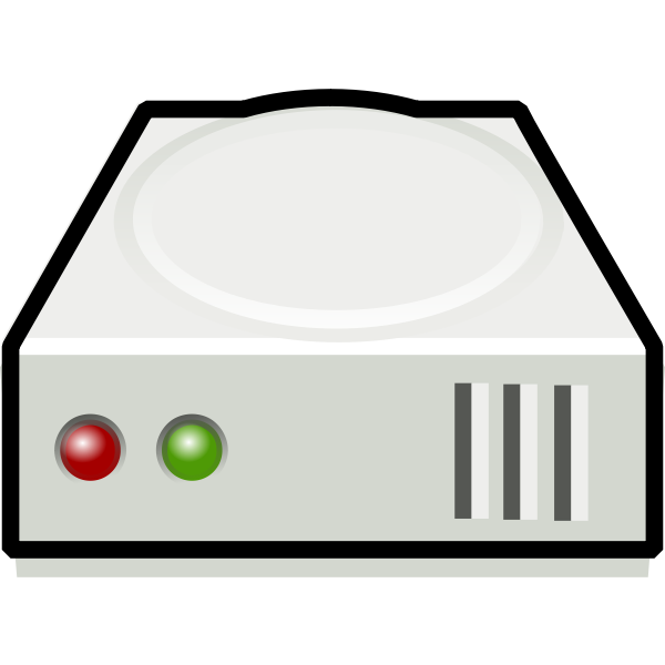 Hard disk icon vector image