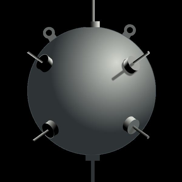 Sea mine vector image