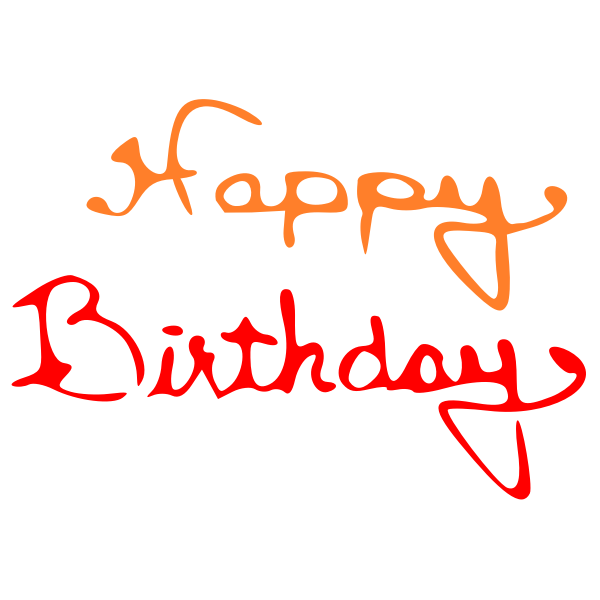 Vector illustration of a happy birthday sign
