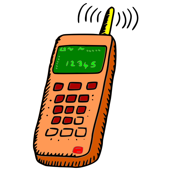 Vector clip art of mobile phone