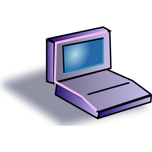 Laptop cartoon icon vector image