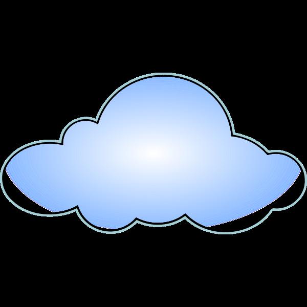 Net wan cloud vector image