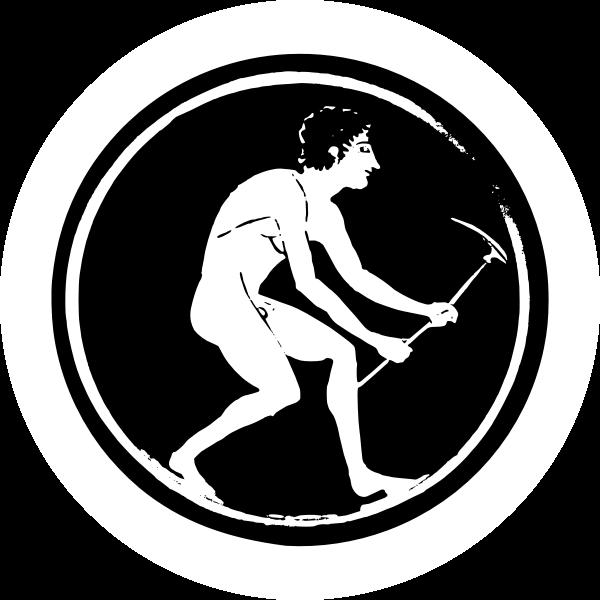 Vector image of Greek peasant