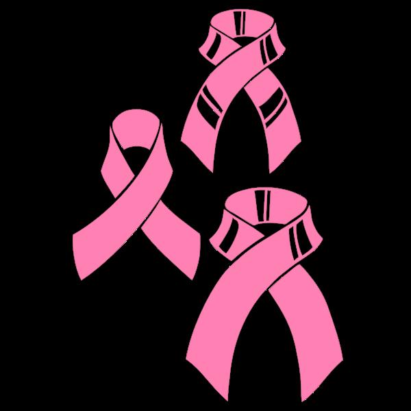 Vector graphics of pink ribbons set