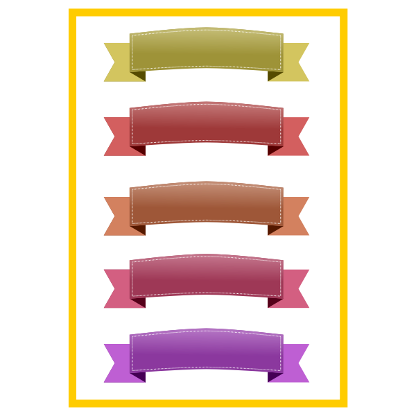Colorful ribbons set