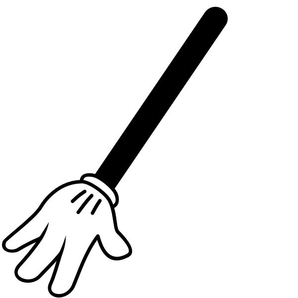 Vector graphics of raised hand sign