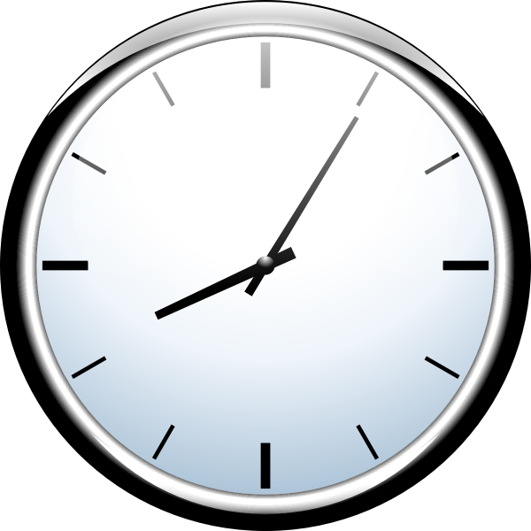 Analogue wall clock vector illustration