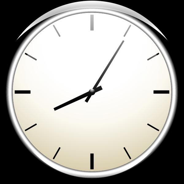 Analogue wall clock vector image