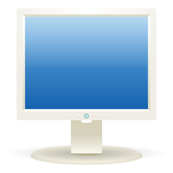 Computer LCD display vector graphics