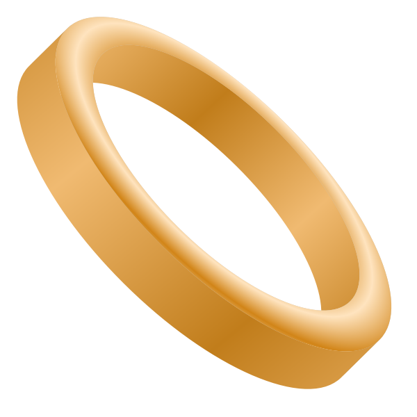 Vector image of wedding band
