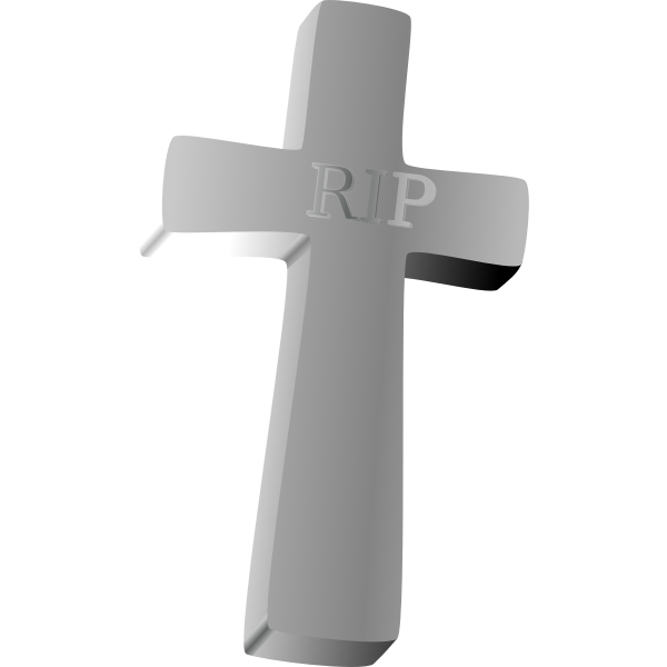 Vector clip art of tombstone