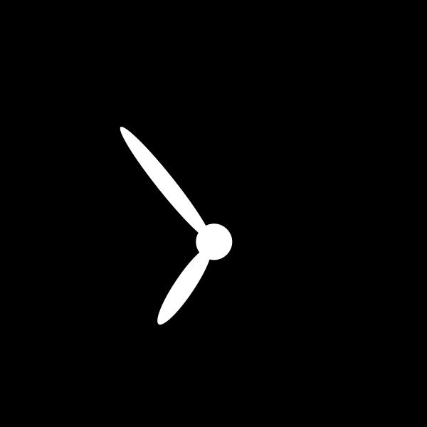 Alarm clock vector silhouette