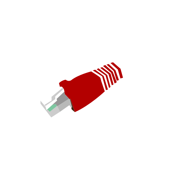 Connector RJ45 vector clip art