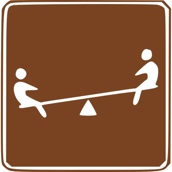 Vector image of seesaw area traffic sign
