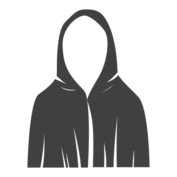 Black robe vector image