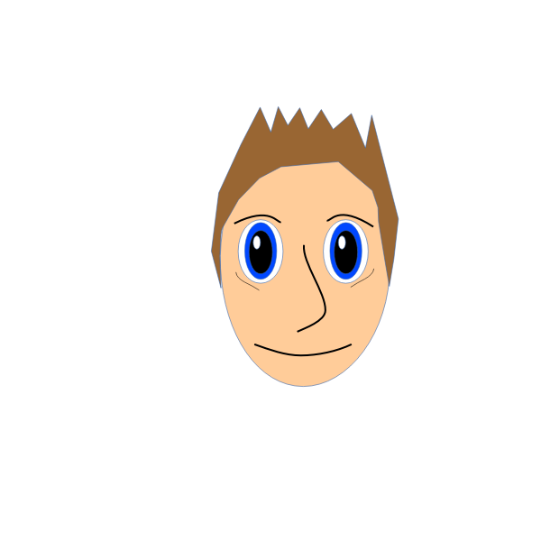 Vector illustration of cartoon boy's face
