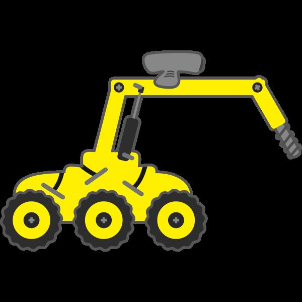 Yellow digger vector graphics