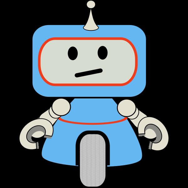 robot little blue