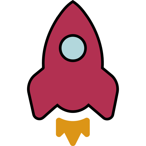 Colored rocket