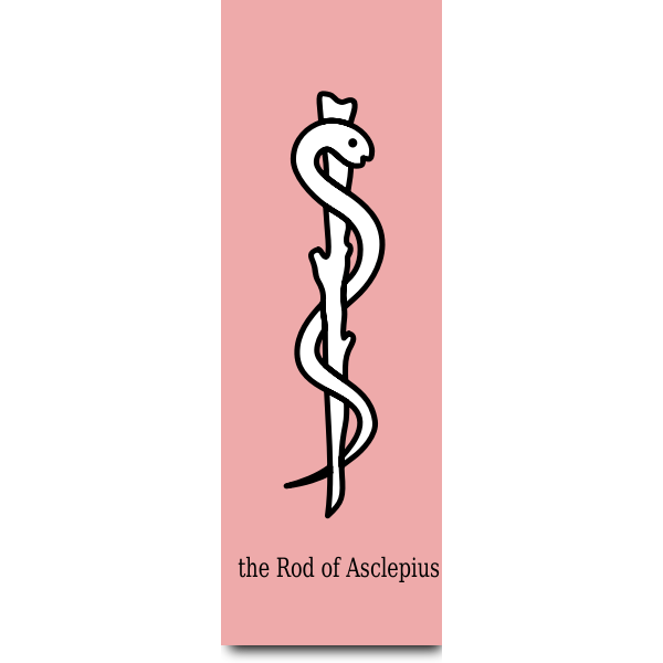 Graphics of the Rod of Asclepius