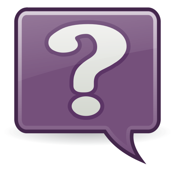 Vector image of purple shaded question mark