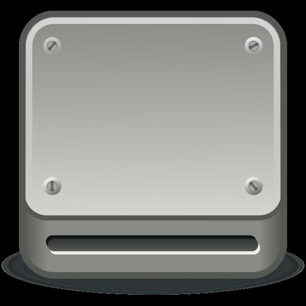 Optical drive vector icon