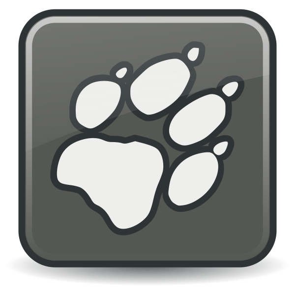 Vector drawing of square claw icon