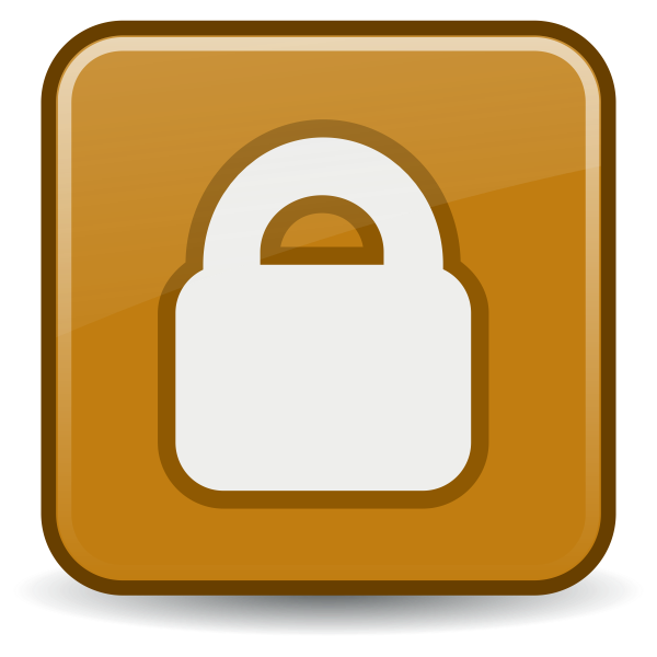 Vector illustration of locked file PC icon