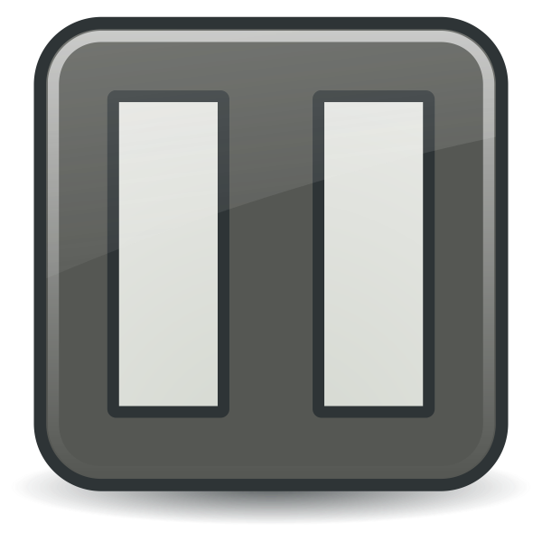 Grayscale vector image of color button - PAUSE