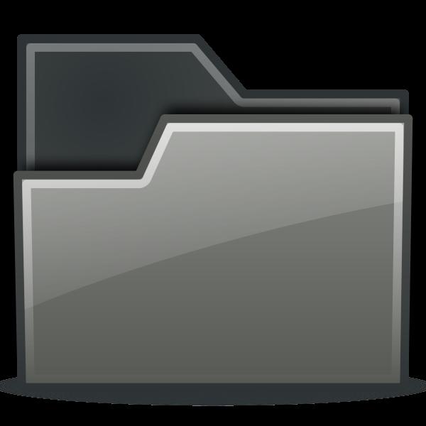 Grey closed folder icon vector drawing
