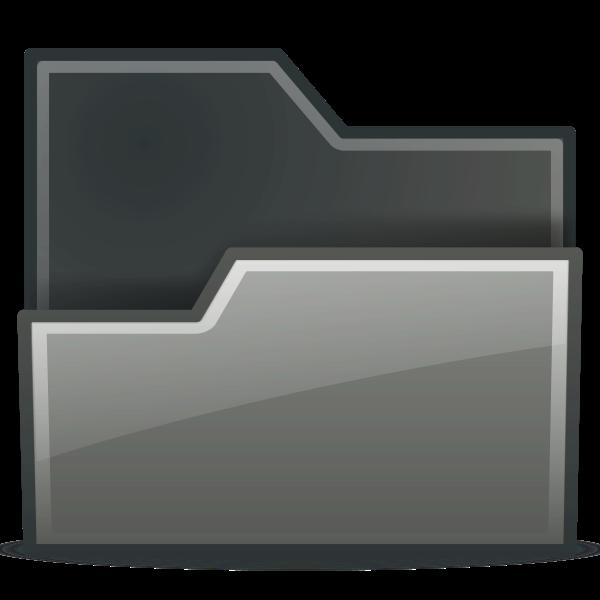 Vector illustration of grayscale folder icon