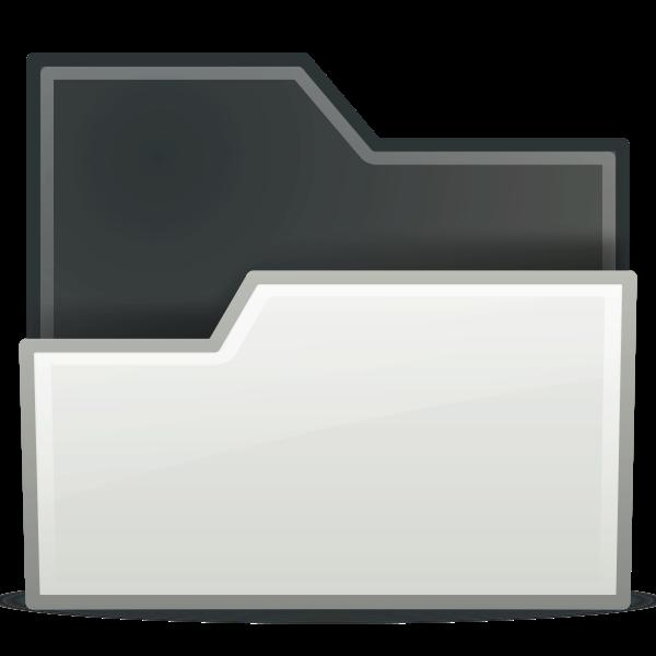 Dragging white folder