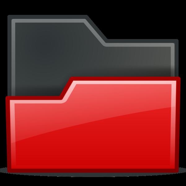 Red opened folder