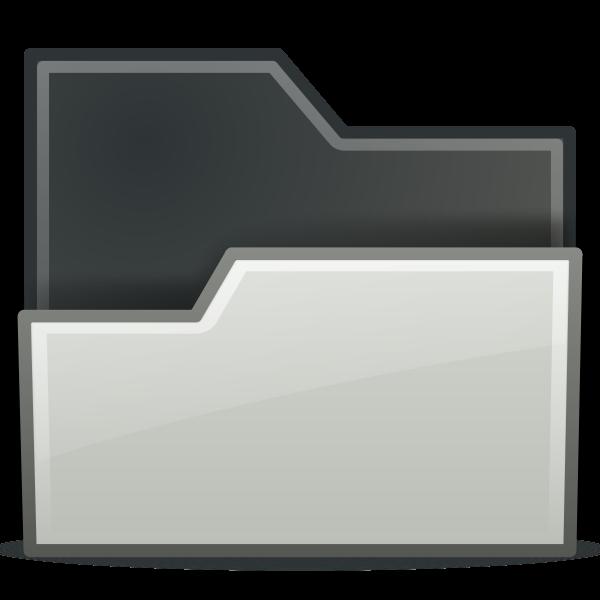 Open white folder